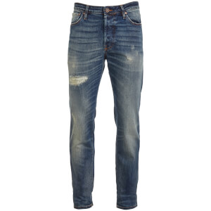 Jack & Jones Originals Men's Tim 790 Rip Slim Fit Jeans - Mid Wash