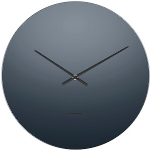 Karlsson Mirage Wall Clock - Black/Glass Mirror