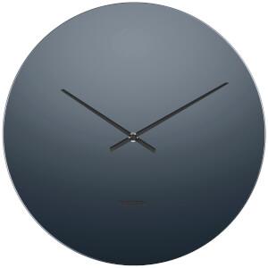 Karlsson Mirage Wall Clock - Black/Glass Mirror