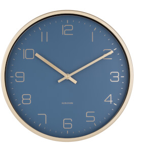 Karlsson Gold Elegance Wall Clock - Blue