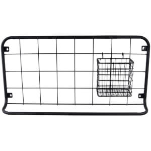 Present Time Open Grid Kitchen Rack Set - Matt Black