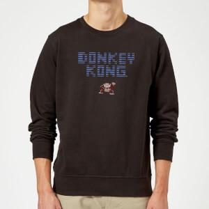 Felpa Nintendo Donkey Kong Retro Logo - Nero