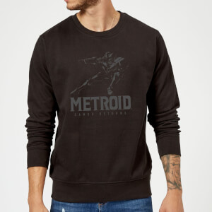 Sweat Homme Super Metroid (Nintendo) Samus Returns - Noir