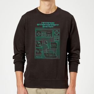 Nintendo NES Controller Blueprint Black Trui - Zwart