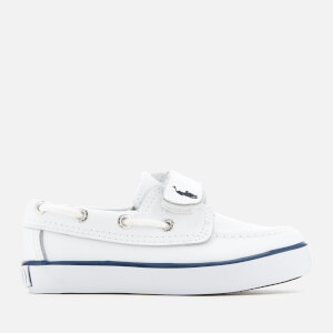 Polo Ralph Lauren Toddlers' Sander EZ Leather Boat Shoes - White/Navy