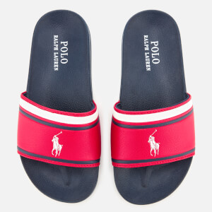 Polo Ralph Lauren Kids' Quilton Slide Sandals - Red/White