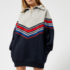 Tommy Hilfiger X GIGI Women's Racing Stripe Sweat Dress - Midnight/Light Grey Heather