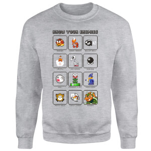 Nintendo Know Your Enemies Sweatshirt - Grey