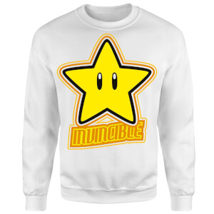 Sweat Homme Super Mario Invincible - Nintendo - Blanc