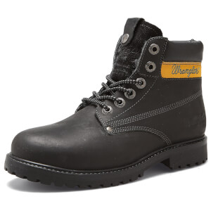 Wrangler Men's Hunter Leather Lace Up Boots - Black