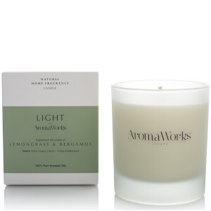 AromaWorks Light Range Candle -tuoksukynttilä, Lemongrass and Bergamot 300ml