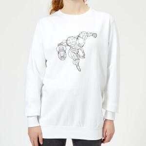 Nintendo Super Metroid Samus Damen Pullover - Weiß