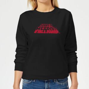 Sweat Femme Super Metroid (Nintendo) Logo Rétro - Noir