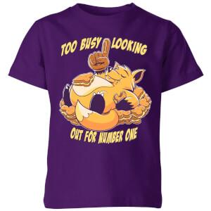 Fox No1 Kids' T-Shirt - Purple