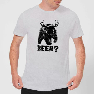 T-Shirt Homme Beer Bear Deer - Gris