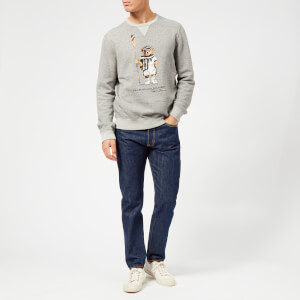 Polo Ralph Lauren Men's Vintage Fleece Bear Sweatshirt - Bronx Heather: Image 3