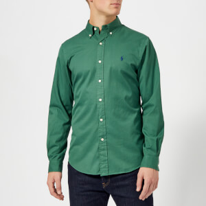 Polo Ralph Lauren Men's Garment Dye Twill Long Sleeve Shirt - Washed Forest