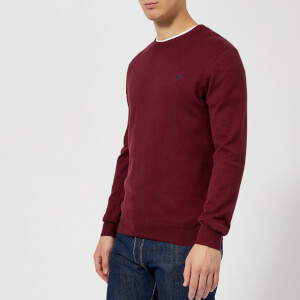 Polo Ralph Lauren Men's Pima Cotton Crew Neck Knitted Jumper - Classic Wine