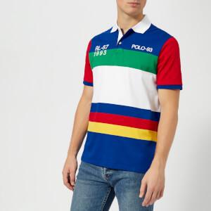 Polo Ralph Lauren Men's Regatta Polo 93 Stripe Short Sleeve Polo Shirt - Cruise Navy Multi