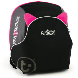 Trunki BoostApak Car Seat - Black/Pink