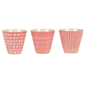 Sass & Belle Pink Mini Planters (Set of 3)