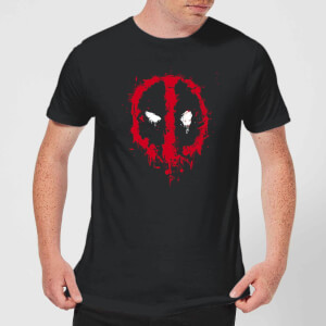 Camiseta Marvel Deadpool Splat Face - Hombre - Negro