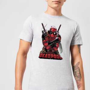 Marvel Deadpool Ready For Action T-Shirt - Grijs
