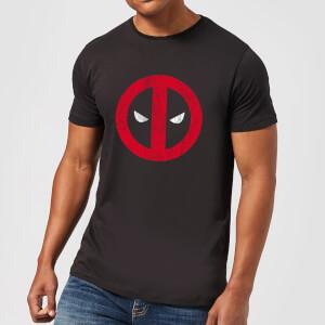 T-Shirt Homme Deadpool (Marvel) Logo Craqué - Noir