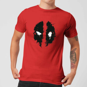 Marvel Deadpool Splat Face T-Shirt - Rood