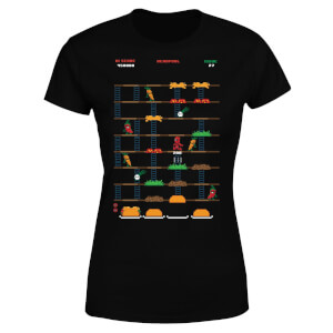 T-Shirt Femme Deadpool (Marvel) Jeu Rétro - Noir