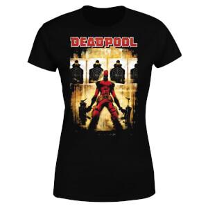 T-Shirt Femme Deadpool (Marvel) Cible - Noir
