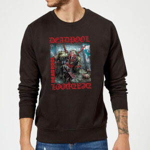 Marvel Deadpool Here Lies Deadpool Sweatshirt - Black