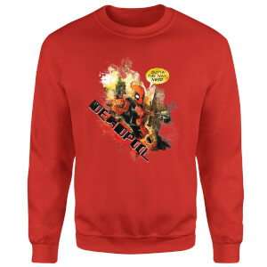 Marvel Deadpool Outta The Way Nerd Sweatshirt - Red