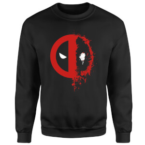 Sweat Homme Deadpool (Marvel) Split Splat Logo - Noir
