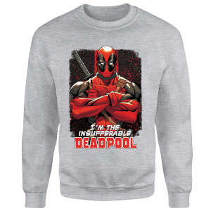 Marvel Deadpool Crossed Arms Sweatshirt - Grey