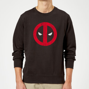 Marvel Deadpool Deadpool Cracked Logo Sweatshirt - Black