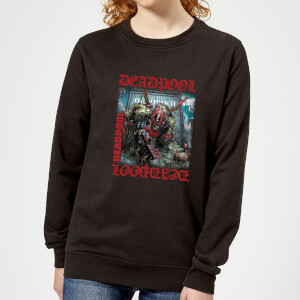 Marvel Deadpool Here Lies Deadpool Women's Sweatshirt - Black