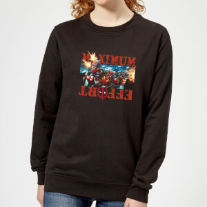 Marvel Deadpool Maximum Effort Women's Sweatshirt - Black