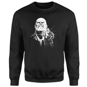 Sweat Homme Avengers Infinity War ( Marvel) Fierce Thanos - Noir
