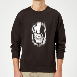 Marvel Avengers Infinity War Thanos Face Sweatshirt - Black