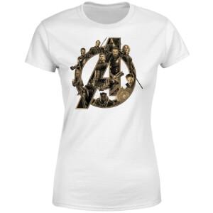 T-Shirt Femme Avengers Infinity War ( Marvel) Logo Avengers - Blanc