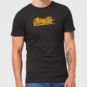 Marvel Avengers Infinity War Orange Logo T-Shirt - Black