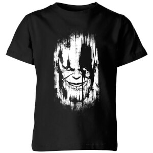 Marvel Avengers Infinity War Thanos Face Kinder T-shirt - Zwart