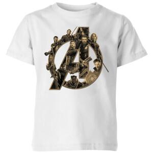 Camiseta Marvel Vengadores: Infinity War Logo - Niño - Blanco