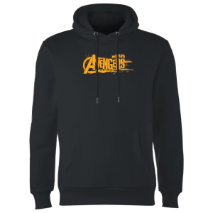 Sweat à Capuche Homme Avengers Infinity War ( Marvel) Logo Orange - Noir