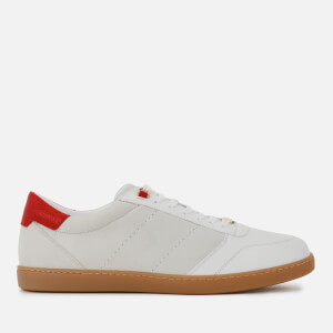 Buscemi Men's Box Low Top Trainers - White/Red