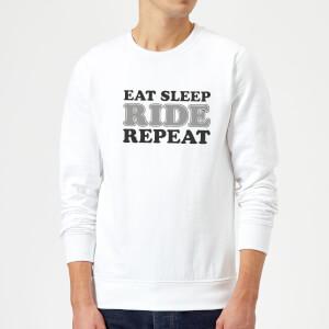 Eat Sleep Ride Repeat Sweatshirt - White