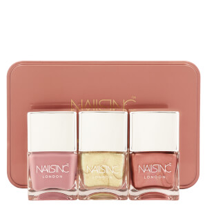 Trio de Vernizes de Unhas Palette Nudemetallics da nails inc. 3 x 14 ml