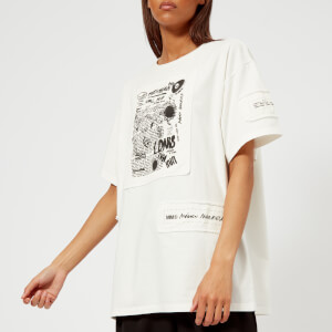 MM6 Women's American Jersey T-Shirt - Off White