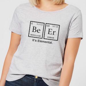 Be Er It's Elemental Women's T-Shirt - Grey
